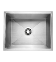 Carysil Quadro Stainless Steel Single Bowl Kitchen Sink - 20x17x8