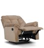 Caesar One Seater Recliner Sofa in Beige Colour by HomeTown