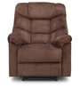 Caesar One Seater Recliner Sofa in Brown Colour by HomeTown