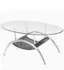 Cairo Rectangular Coffee Table in Silver Colour by Godrej Interio