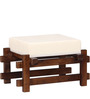 Toledo Solid Wood Stool in Provincial Teak Finish by Woodsworth