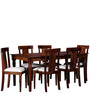 Calypso Six Seater Dining Set in Provincial Teak Finish by Amberville