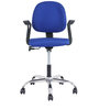Cannon Low Back Office Chair in Blue Colour by The Furniture Store