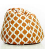 Canvas XXL Bean Bag with Jharokha Design by Story@Home