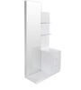 Capital Dressing Table with Mirror in Glossy White Colour by @home