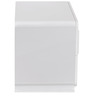 Capital Night Stand in Glossy White Colour by @home