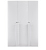 Capital Three Door Wardrobe in Glossy White Colour by @home