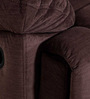 Cardiff Three Seater Recliner Sofa in Chocolate Colour by Evok