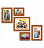 Carina Collage Photo Frame in Brown by CasaCraft