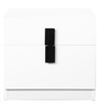 Carol High Gloss Bedside Table in White & Black Colour by HomeTown