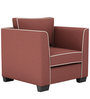 Carolina One Seater Sofa in Cherry Colour by ARRA