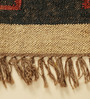 Carpet Overseas Black & Rust Jute 98 x 70 Inch Traditional Design Flatweave Area Rug