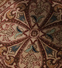Carpet Overseas Brown & Cream Wool 60 x 60 Inch Persian Design Hand Knotted Area Rug