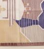 Carpet Overseas Camel & Blue Cotton 36 x 24 Inch Cartoon Area Rug