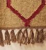 Carpet Overseas Camel & Red Jute 71 x 48 Inch Area Rug