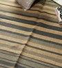 Carpet Overseas Cream & Blue Jute 72 x 48 Inch Area Rug