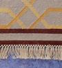 Carpet Overseas Grey & Rust Cotton 60 x 37 Inch Lattice Design Flatweave Area Rug