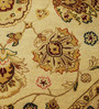 Carpet Overseas Ivory & Brown Wool 59 x 59 Inch Persian Design Hand Knotted Area Rug