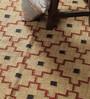 Carpet Overseas Ivory & Rust Jute 61 x 37 Inch Traditional Design Flatweave Area Rug