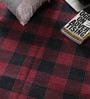 Carpet Overseas Red & Black Cotton 71 x 49 Inch Checks Design Flatweave Area Rug