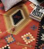 Carpet Overseas Rust & Black Cotton 70 x 48 Inch Area Rug