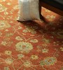Carpet Overseas Rust & Gold Wool 116 x 96 Inch Persian Design Hand Knotted Area Rug