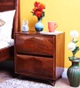 Reno Bed Side Table In Provincial Teak Finish By Woodsworth
