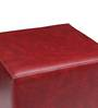 Casa Classico Faux Leatherette Pouffe in Maroon Colour by SIWA Style