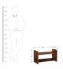 Savannah Solid Wood Basic Shoe Rack In Provincial Teak Finish By Woodsworth
