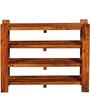 Polson Shoe Rack In Honey Oak Finish By Woodsworth