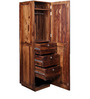 Medina Wardrobe with Drawer in Provincial Teak Finish by Woodsworth