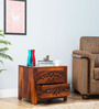 Tacoma Bed Side Table in Honey Oak Finish by Woodsworth