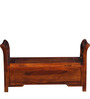 Avery Bench With Storage in Honey Oak Finish by Amberville