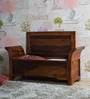 Memphis Bench With Storage in Honey Oak Finish by Woodsworth