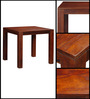 Crosby Four Seater Dining Set in Honey Oak Finish by Amberville