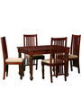 Bergamo Four Seater Dining Set in Honey Oak Finish by Amberville