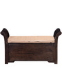 Tyssen Bench with Storage in Provincial Teak Finish by Amberville