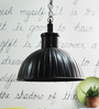 Hestia Pendant Lamp In Black by CasaCraft