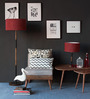 Viterbo Table Lamp in Maroon by CasaCraft