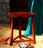 Austin Round Stool in Honey Oak Finish by Woodsworth