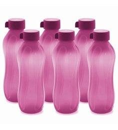 Cello Aqua Kool Pp Bottle 1100 Ml - Set Of 6 Pink