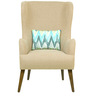 Cecelia Wing Chair in Beige Colour by CasaCraft