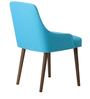 Celano Buttoned Arm Chair (Set of 2) in Blue Colour with Cappucino Legs by CasaCraft