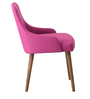 Celano Arm Chair (Set of 2) in Pink Colour & Cocoa Legs by CasaCraft