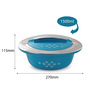 Cello Blue Plastic Double Wall  Novel Casserole - Set of 3