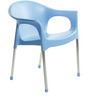 Metallo Cafeteria Chair Set of Two in Blue colour by Cello