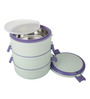 Cello Senate White and Violet Insulated Lunch Carrier
