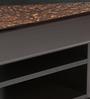 Center cum Coffee Table in Dark Walnut Finish by Kurl-On