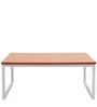 Center Table in Large Size in Sapeli Brown & White Colour by Casamia