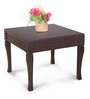 Center Table in Walnut Finish by Crystal Furnitech